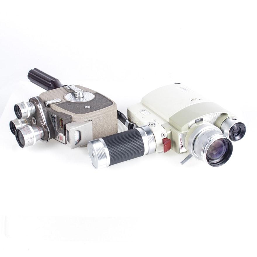 Vintage Zoom 8 and Keystone K-26 8mm Movie Cameras