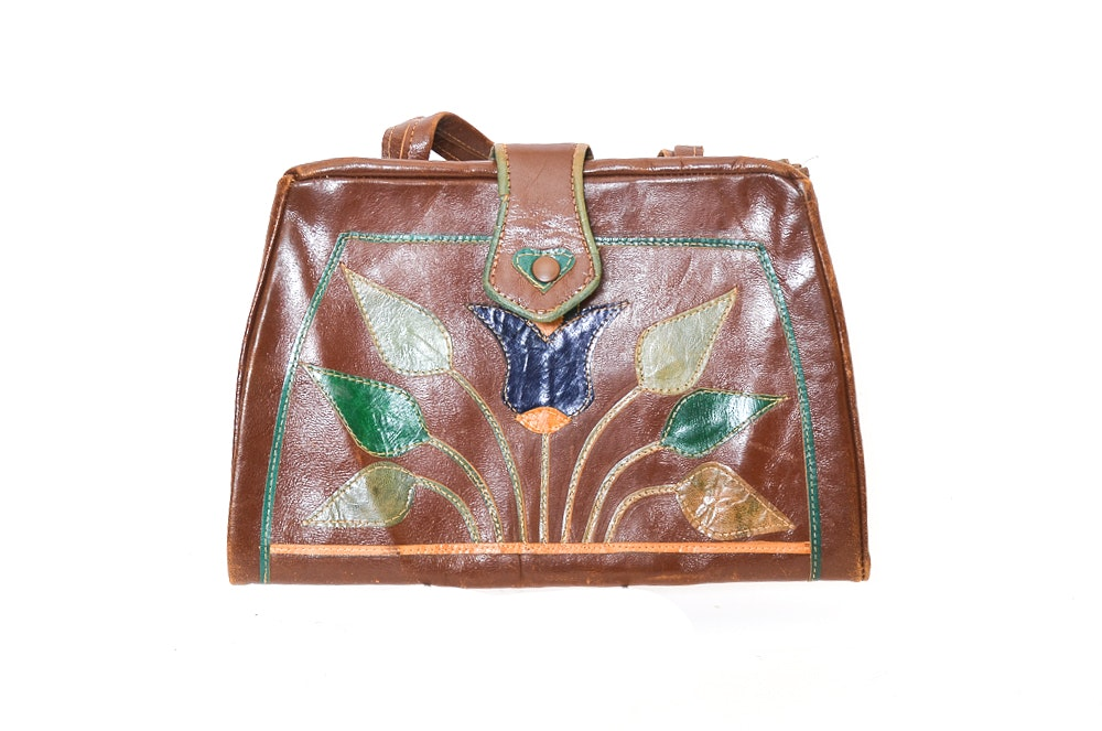 Vintage Egyptian-Inspired Leather Purse