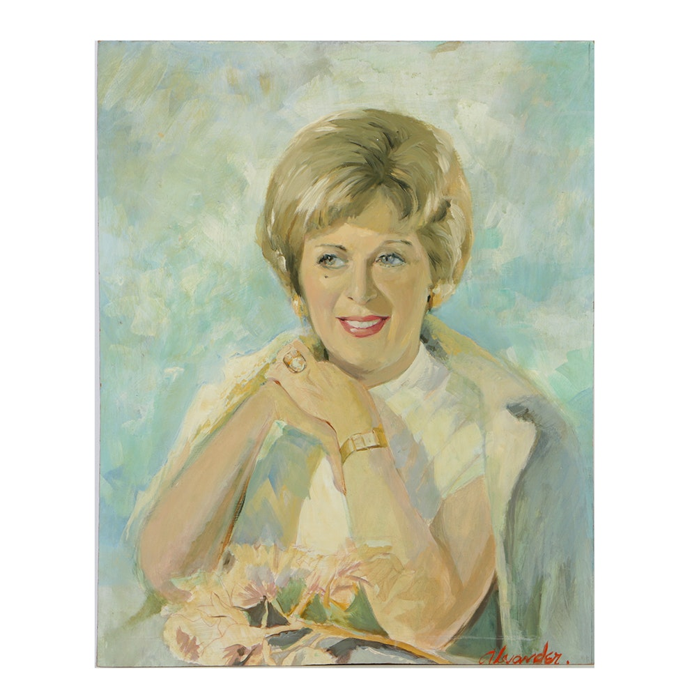 Alexander Oil Portrait on Board of a Woman