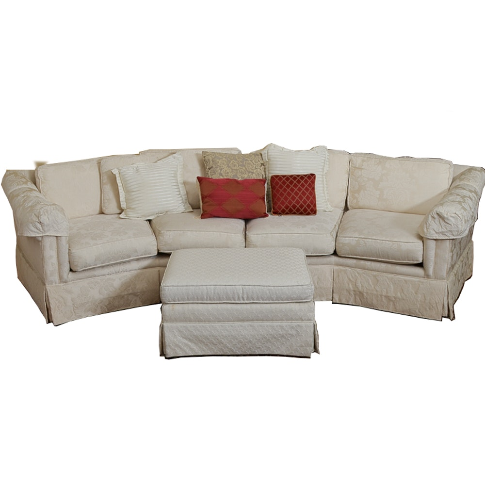Serpentine Sofa with Sam Moore Furniture Ottoman