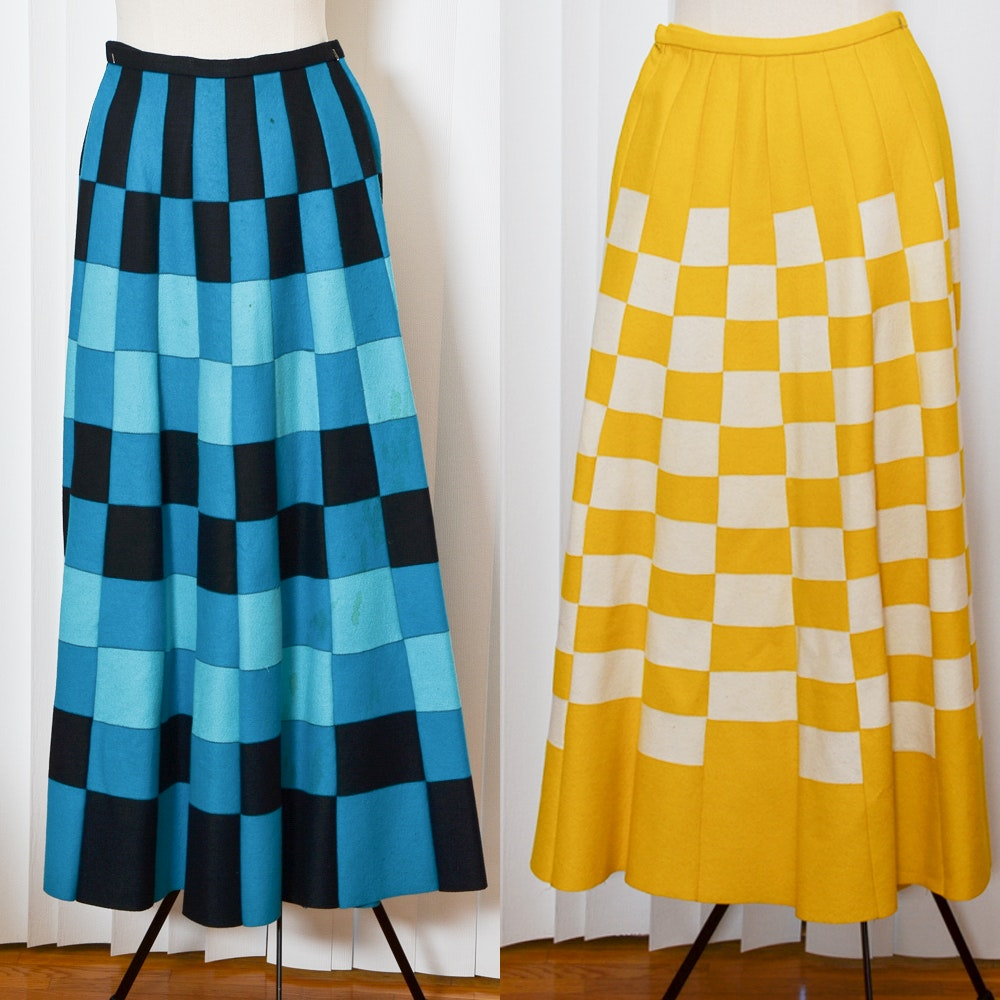 Pair of Vintage Wool Maxi Skirts Including I. Magnin & Co.