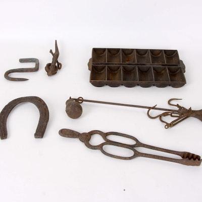 Rustic Cast Iron Decor Group