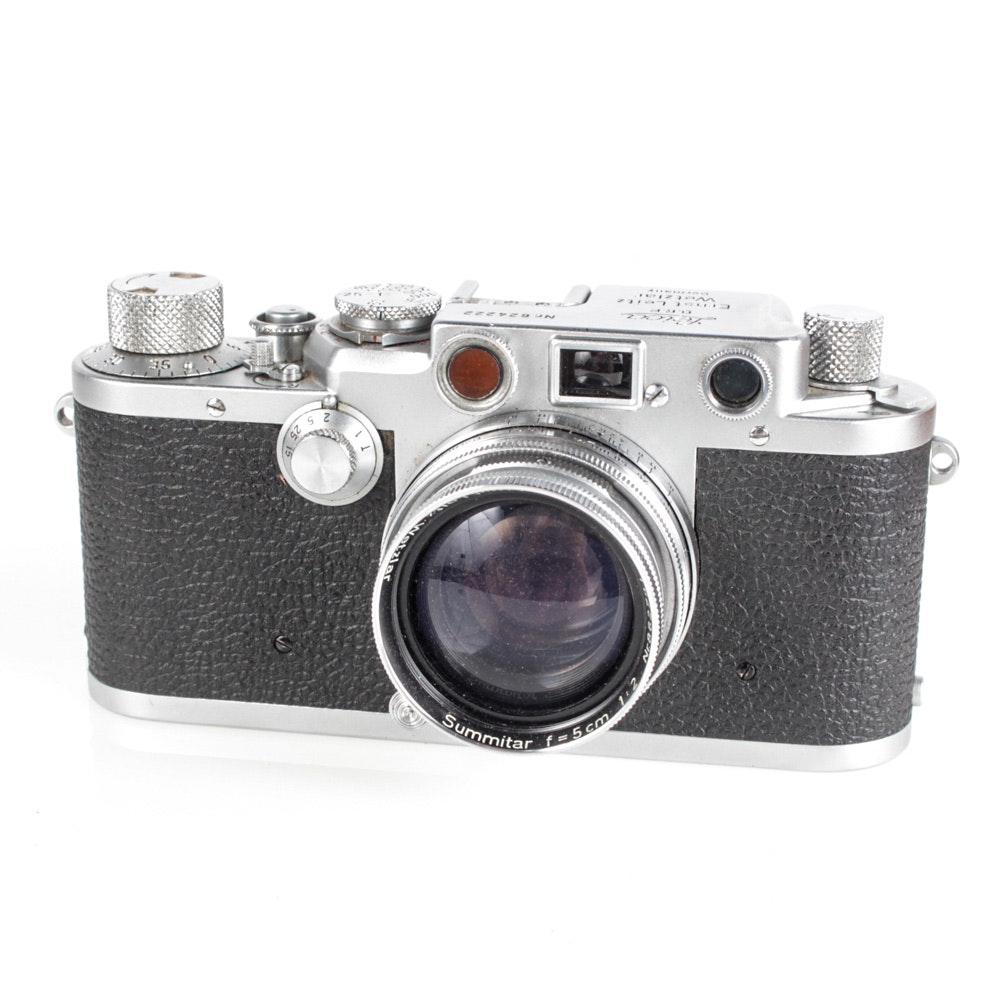 Vintage Leica IIIA 35mm Camera