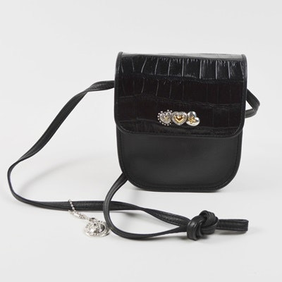 Brighton Black Leather Crossbody Bag