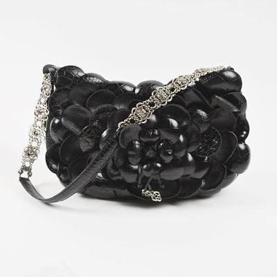 Brighton Black Floral Leather Handbag