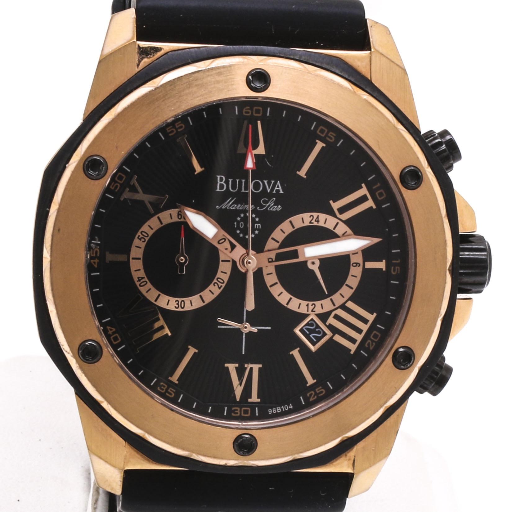 Bulova Marine Star Stainless Steel Wristwatch