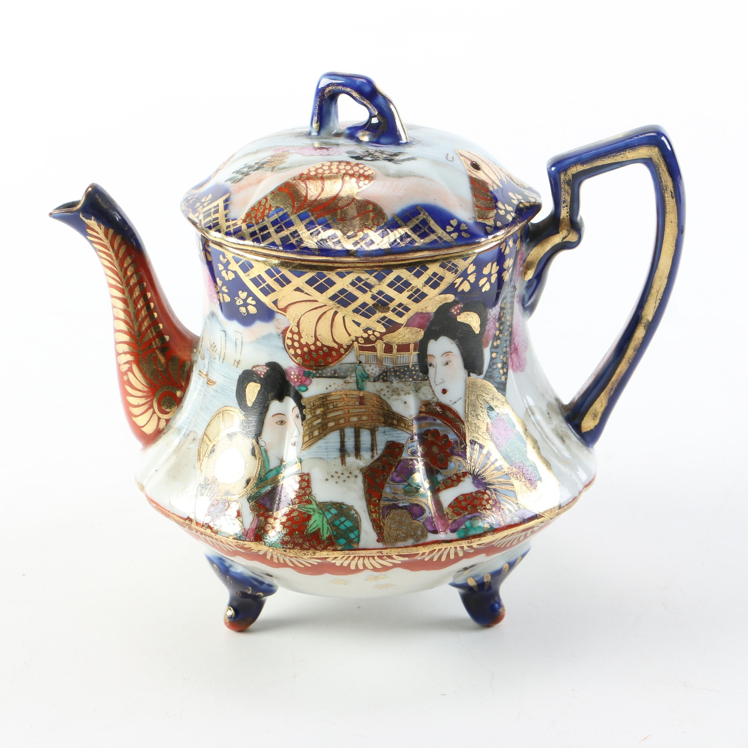 Vintage Japanese Porcelain Teapot