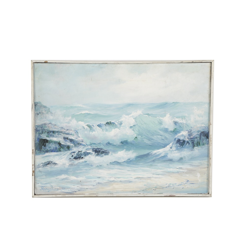Maryanne Maien Oil Painting on Canvas of Seascape