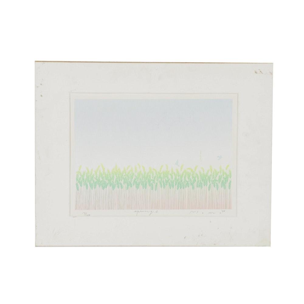 "Shimizu Momo Limited Edition Serigraph on Paper ""Spring"""