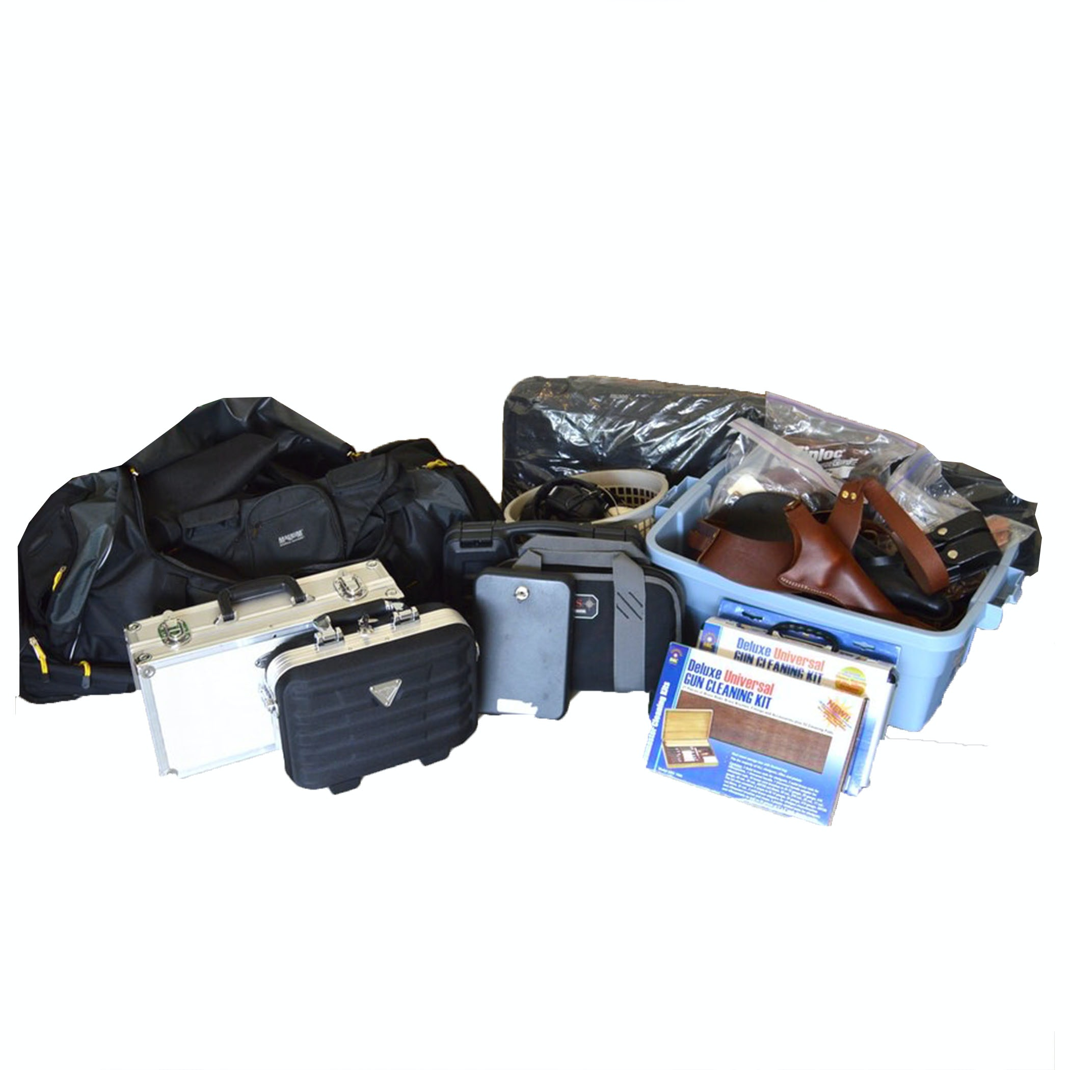 Large Assortment of Firearm Cases and Accessories