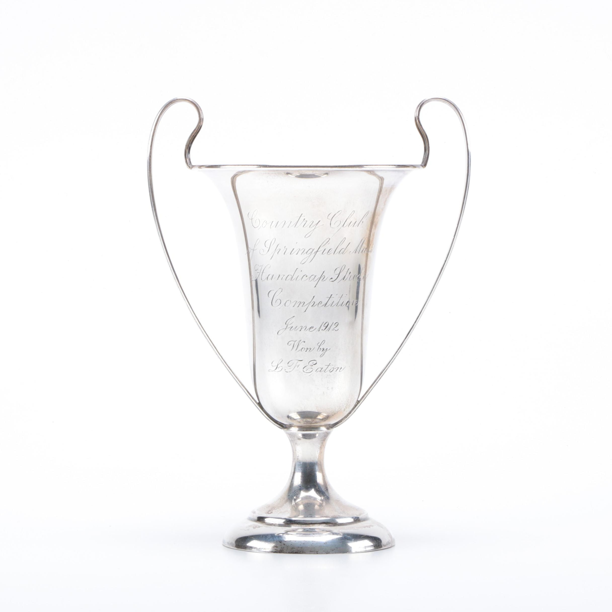 Antique Sterling Silver Country Club of Springfield Golf Trophy