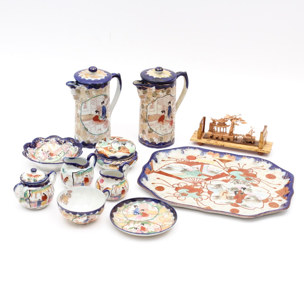 Vintage Japanese Porcelain Tableware