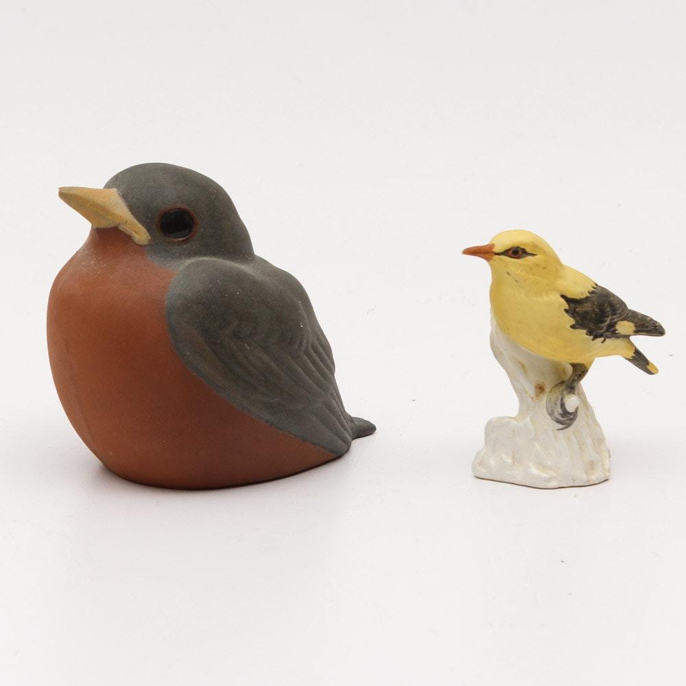 Pair of Ceramic Birds by Nicodemus and Goebel