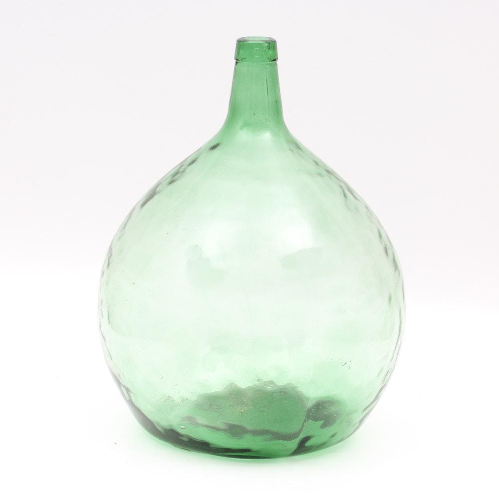 Vintage Viresa Green Glass Wine Jug