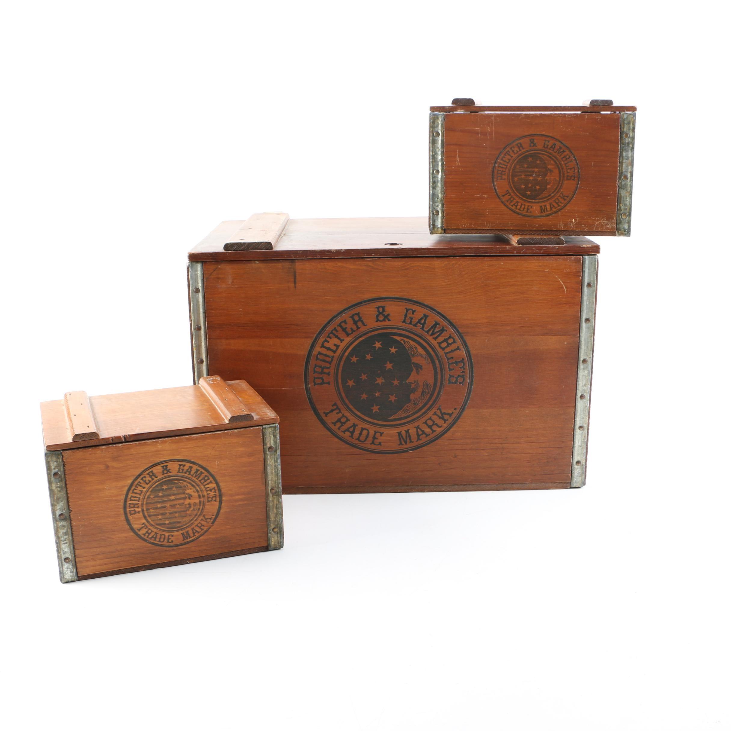Vintage Procter & Gamble Wooden Boxes