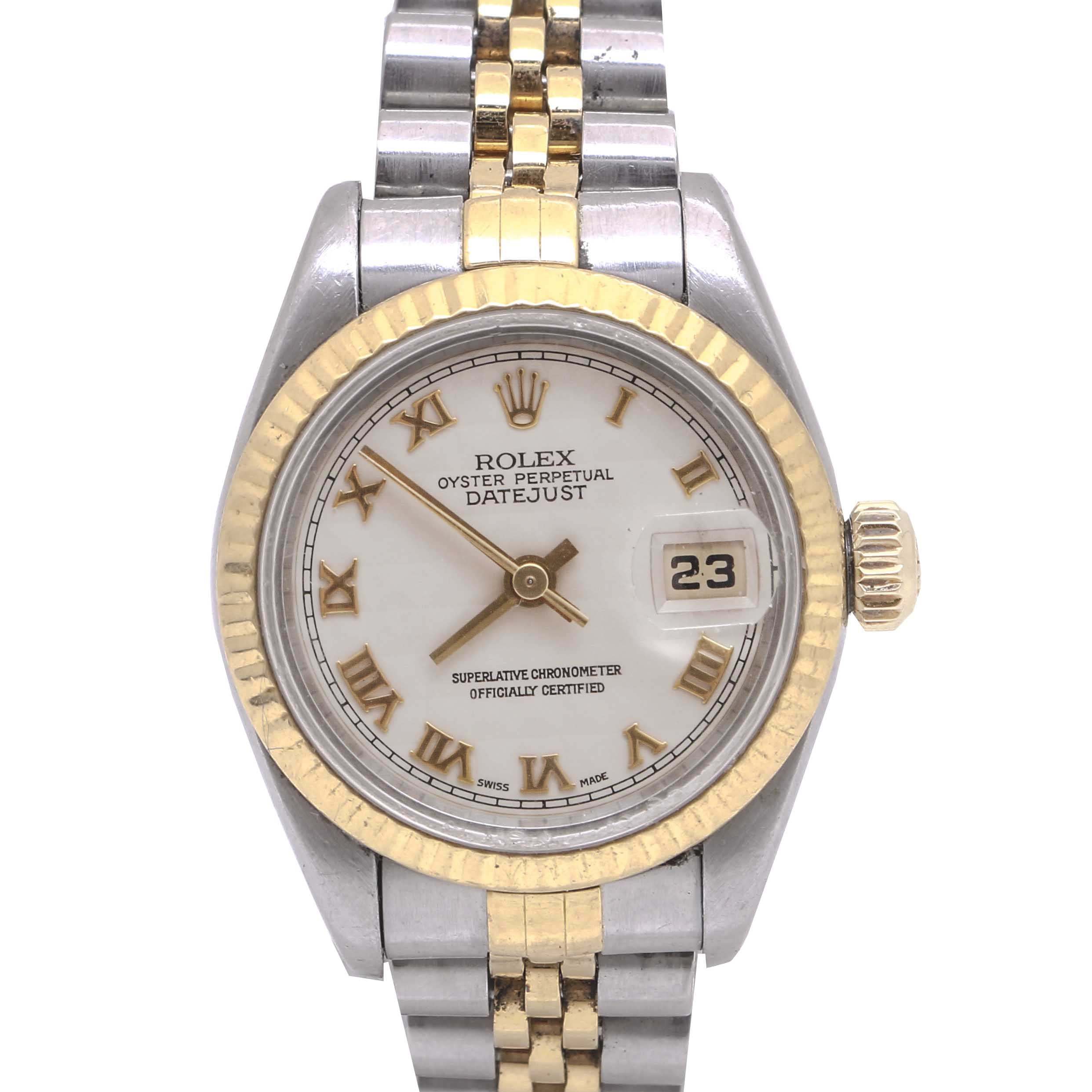 Rolex Oyster Perpetual 18K Gold and Stainless Steel Wristwatch