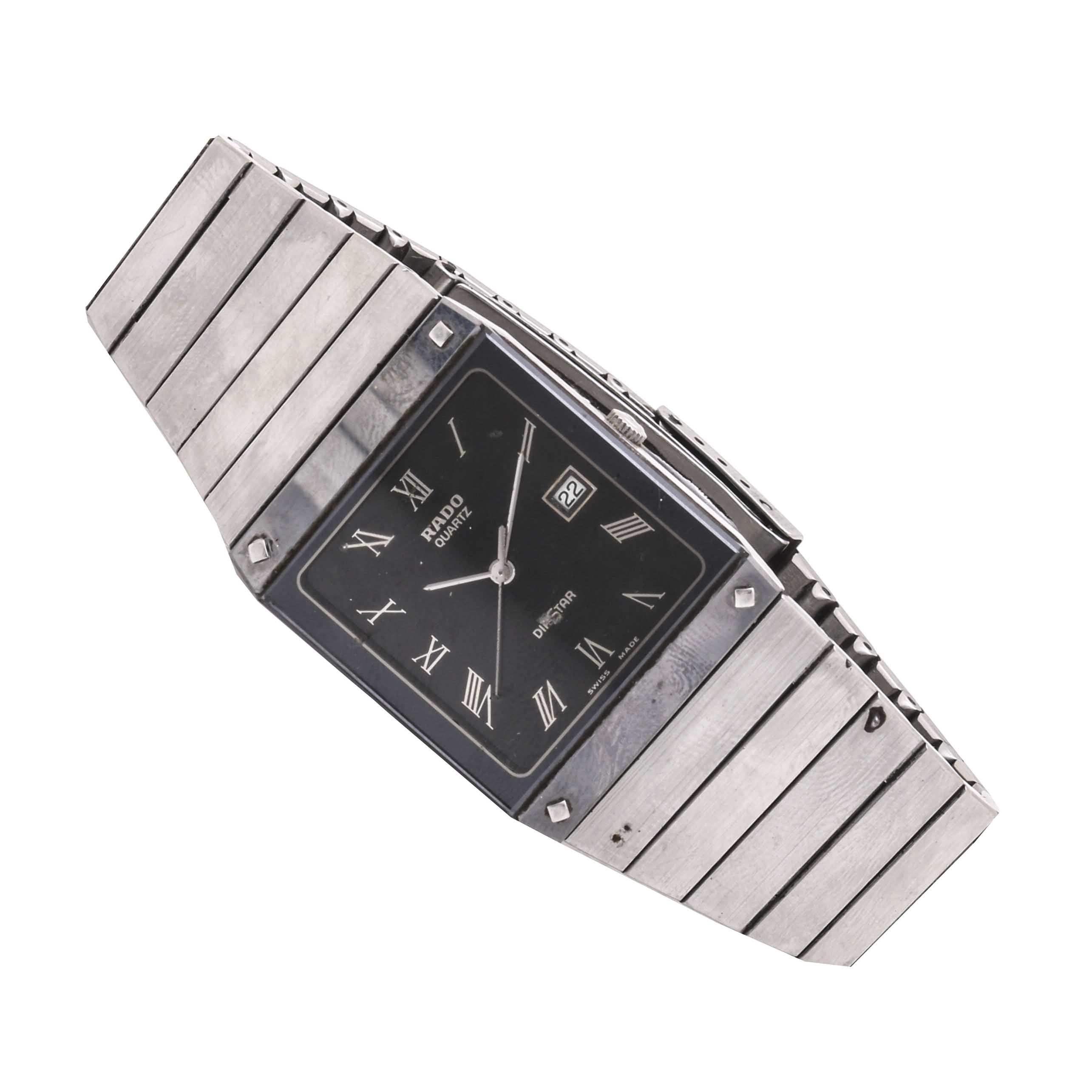 Rado Diastar Stainless Steel Tapered Wristwatch