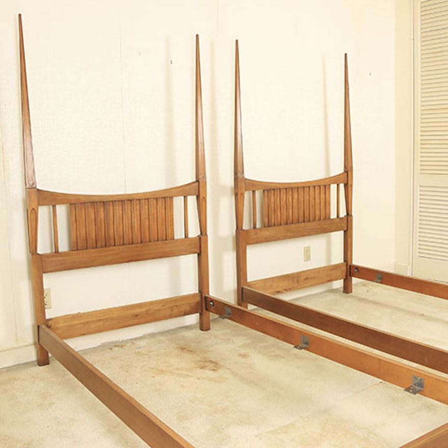 mid century modern twin bed frames by john widdicomb - Mid Century Picture Frames