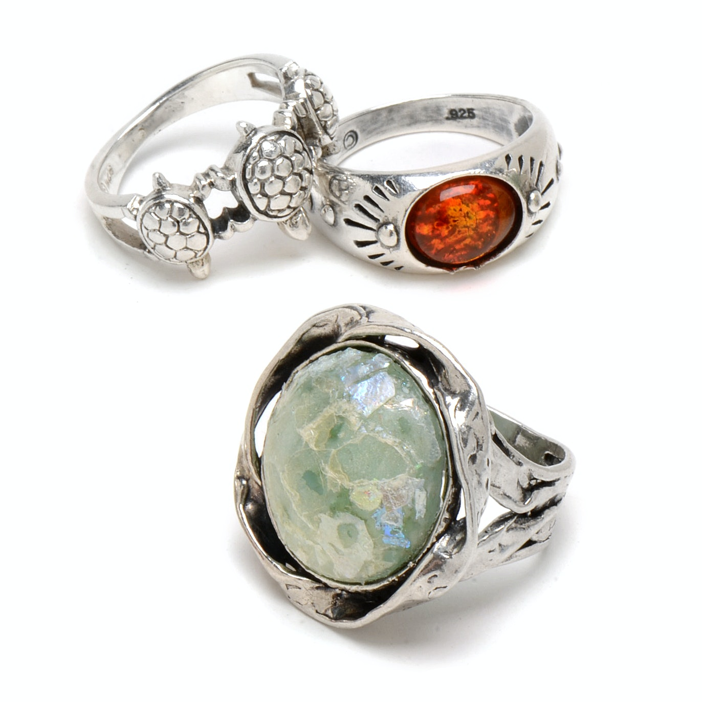 Assortment of Sterling Silver Fashion Rings