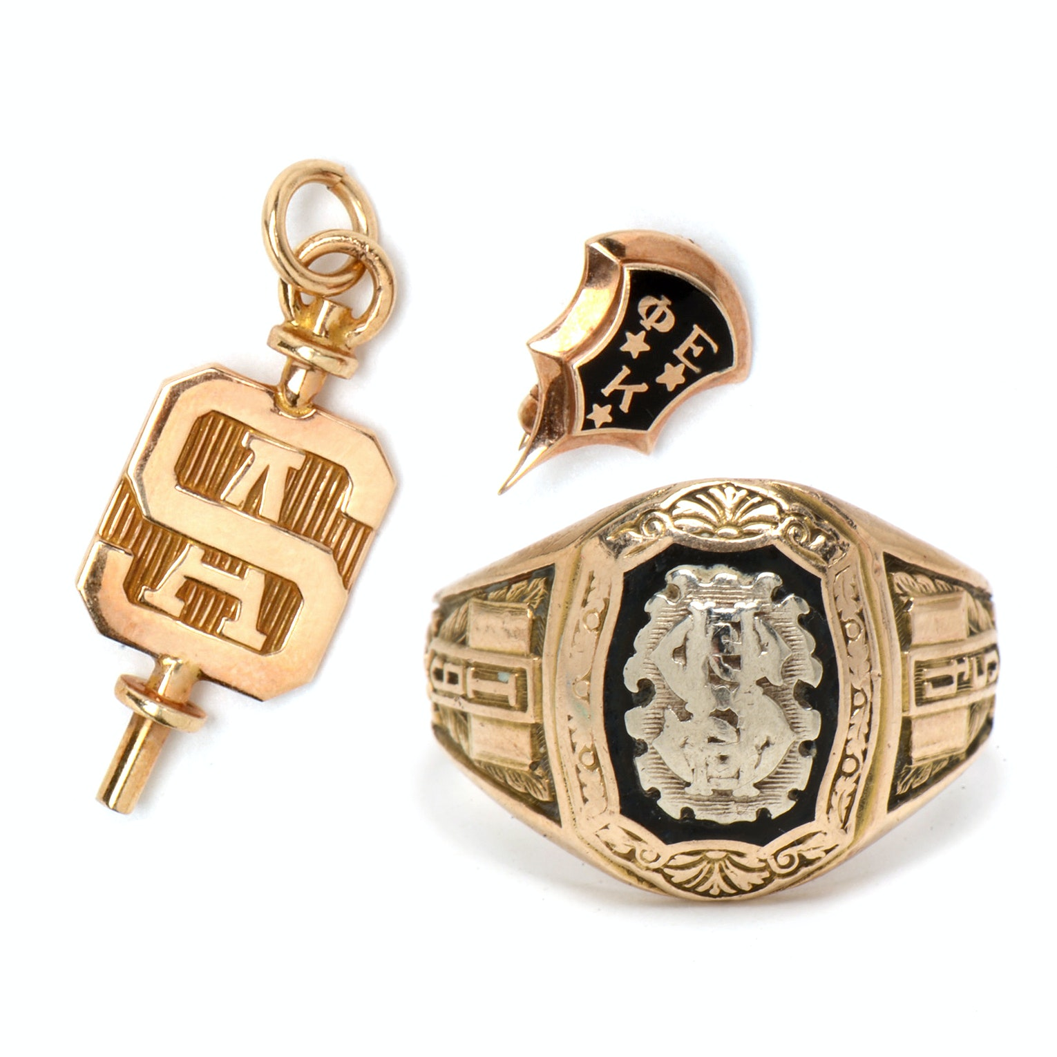 Collection of Vintage 10K Yellow Gold Jewelry