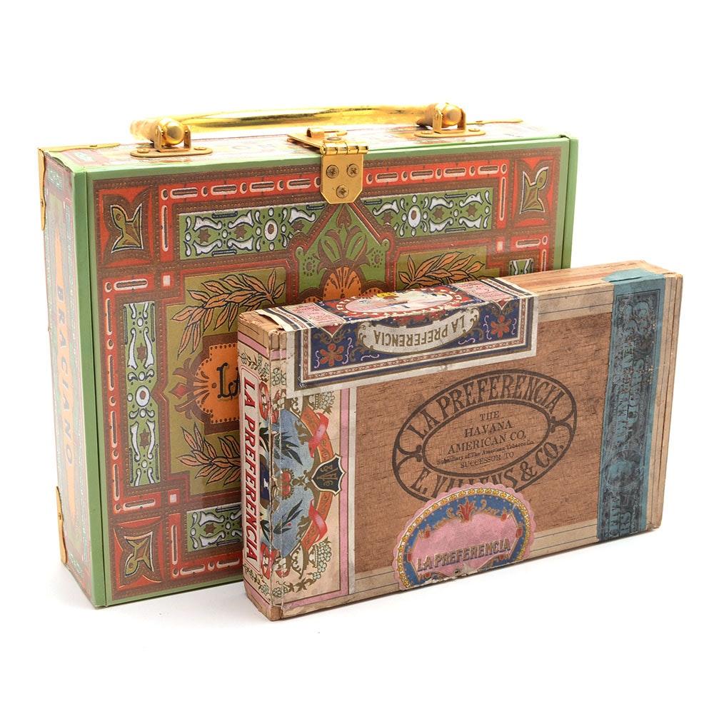 Cigar Box Purse and Box