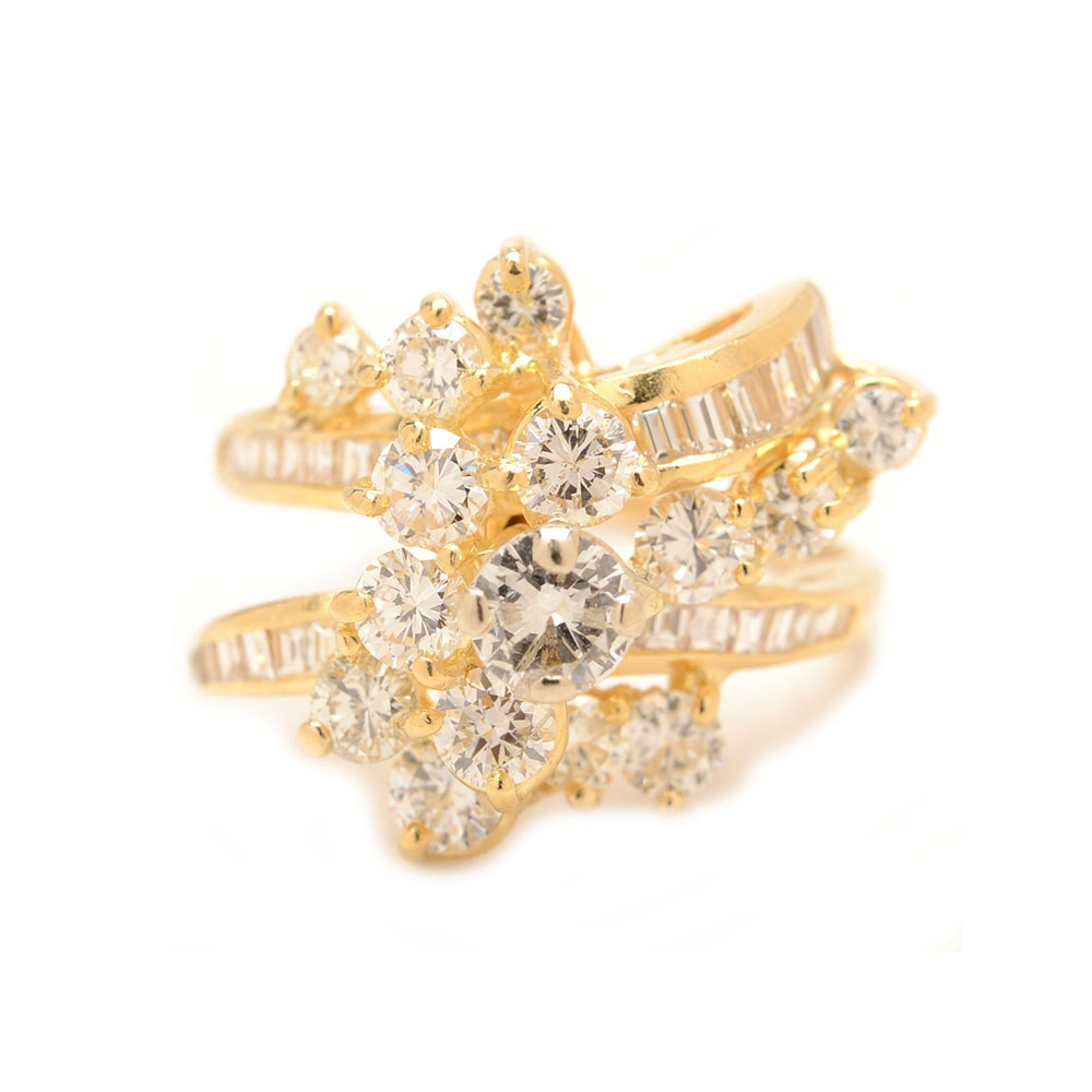 14K Yellow Gold 1.84 CTW Diamond