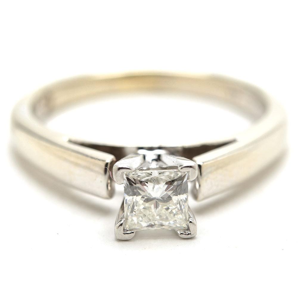 """The Leo""® Diamond 14K White Gold Platinum-Pronged Solitaire Diamond Ring"