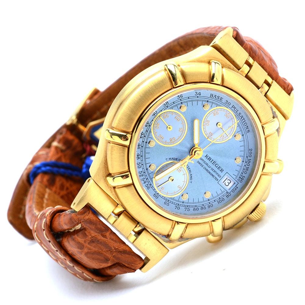 Kriëger 18K Yellow Gold Chronometer Wristwatch