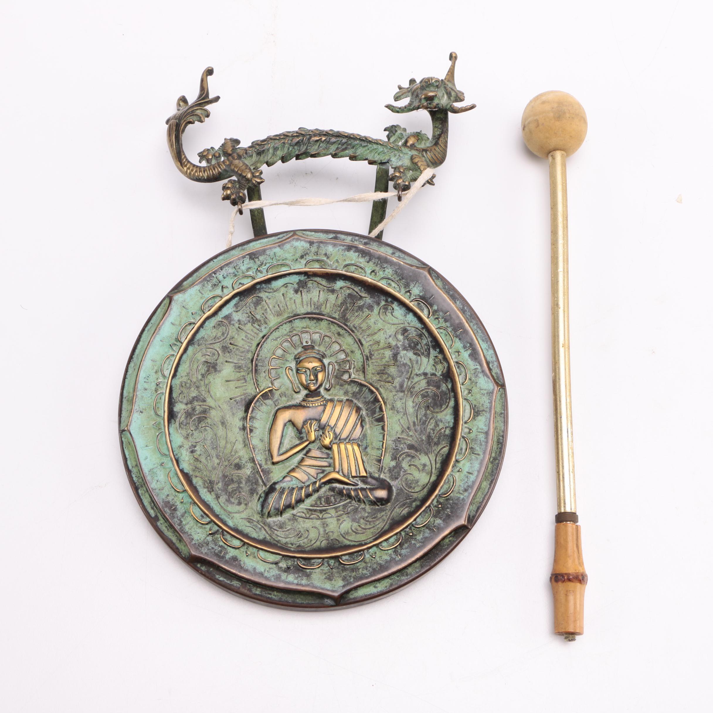 Buddha Embossed Metal Gong