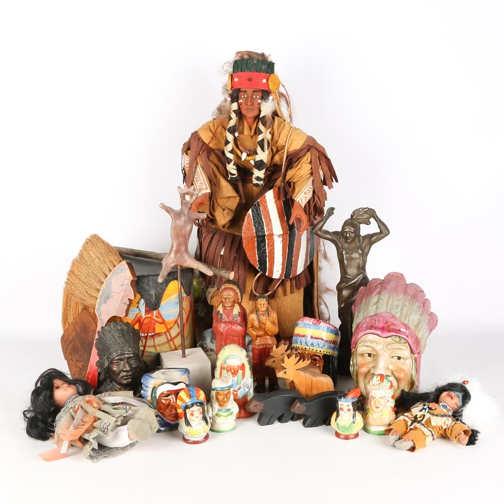 Vintage Native American Themed Collectibles