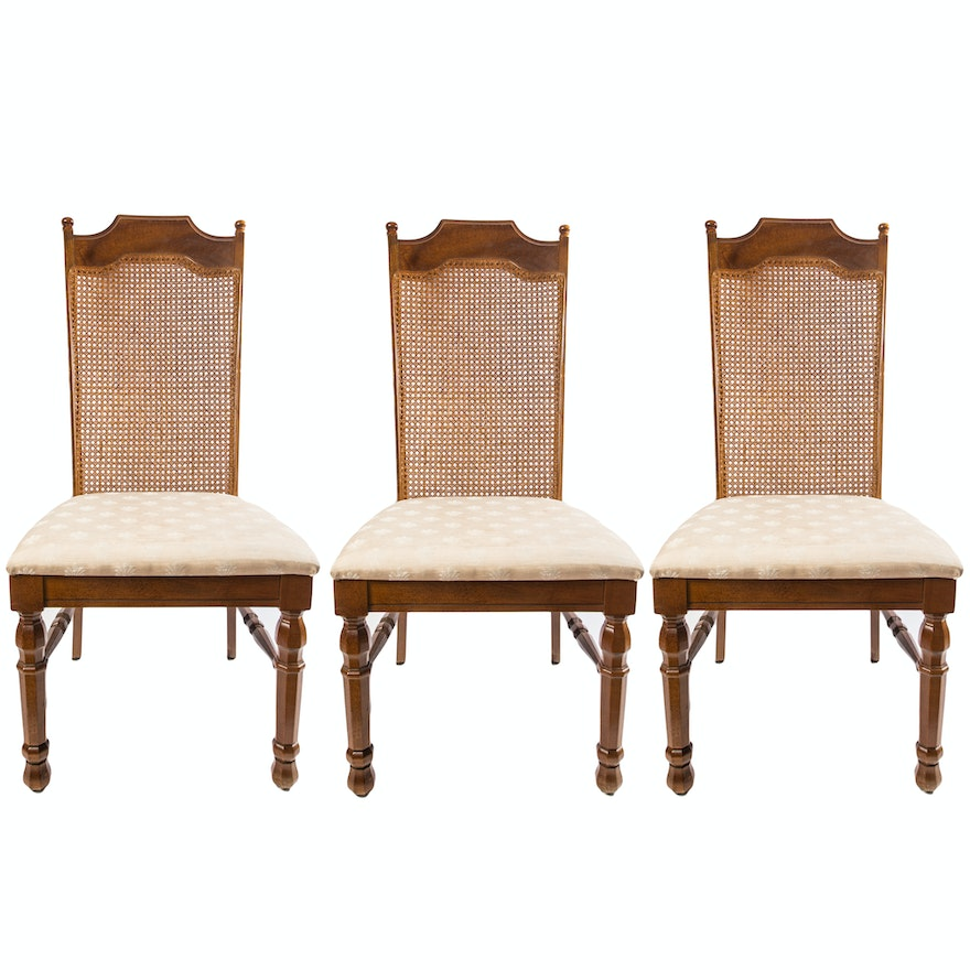 Vintage Broyhill Cane Back Dining Chairs