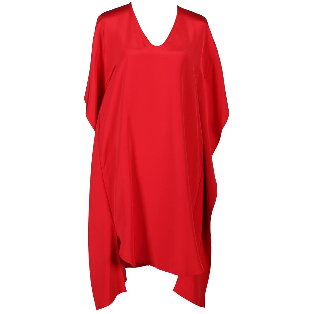 Zero & Maria Cornejo Asymmetric Red Silk Dress