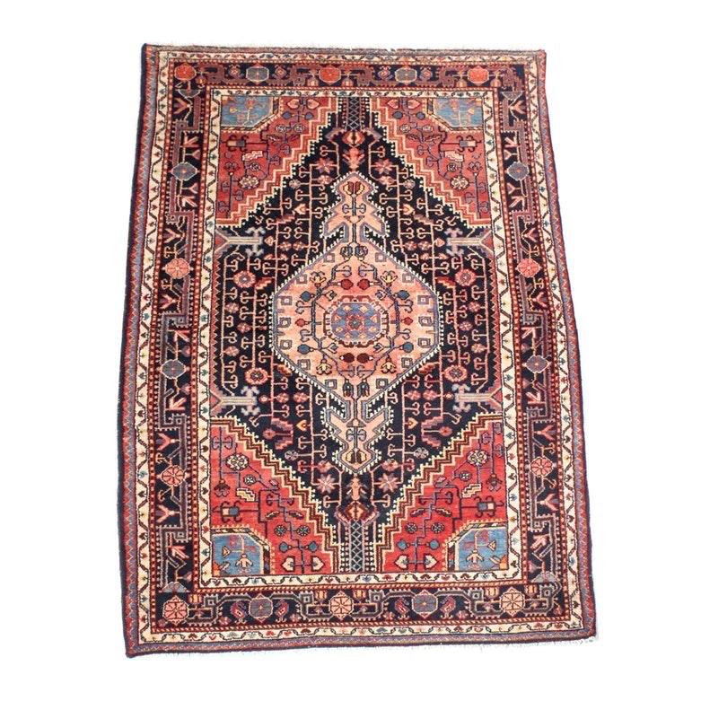 Vintage Handwoven Persian Malayer Area Rug