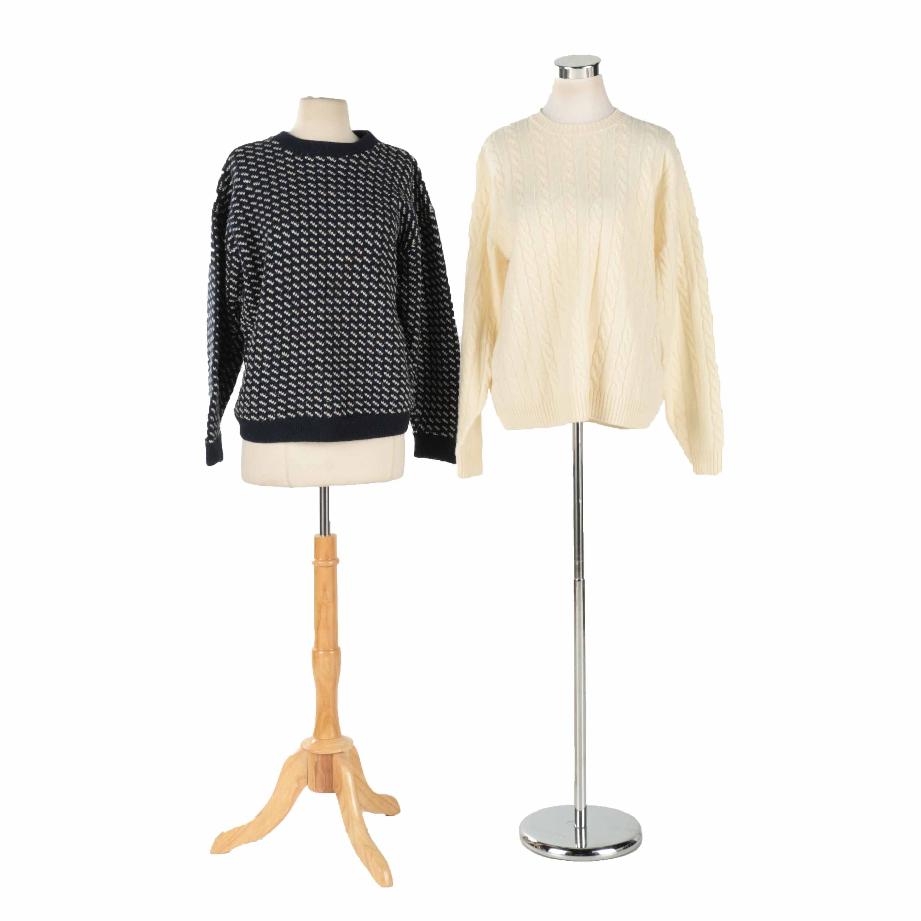 Women's Crew Neck Sweaters Including L.L. Bean and Land's End