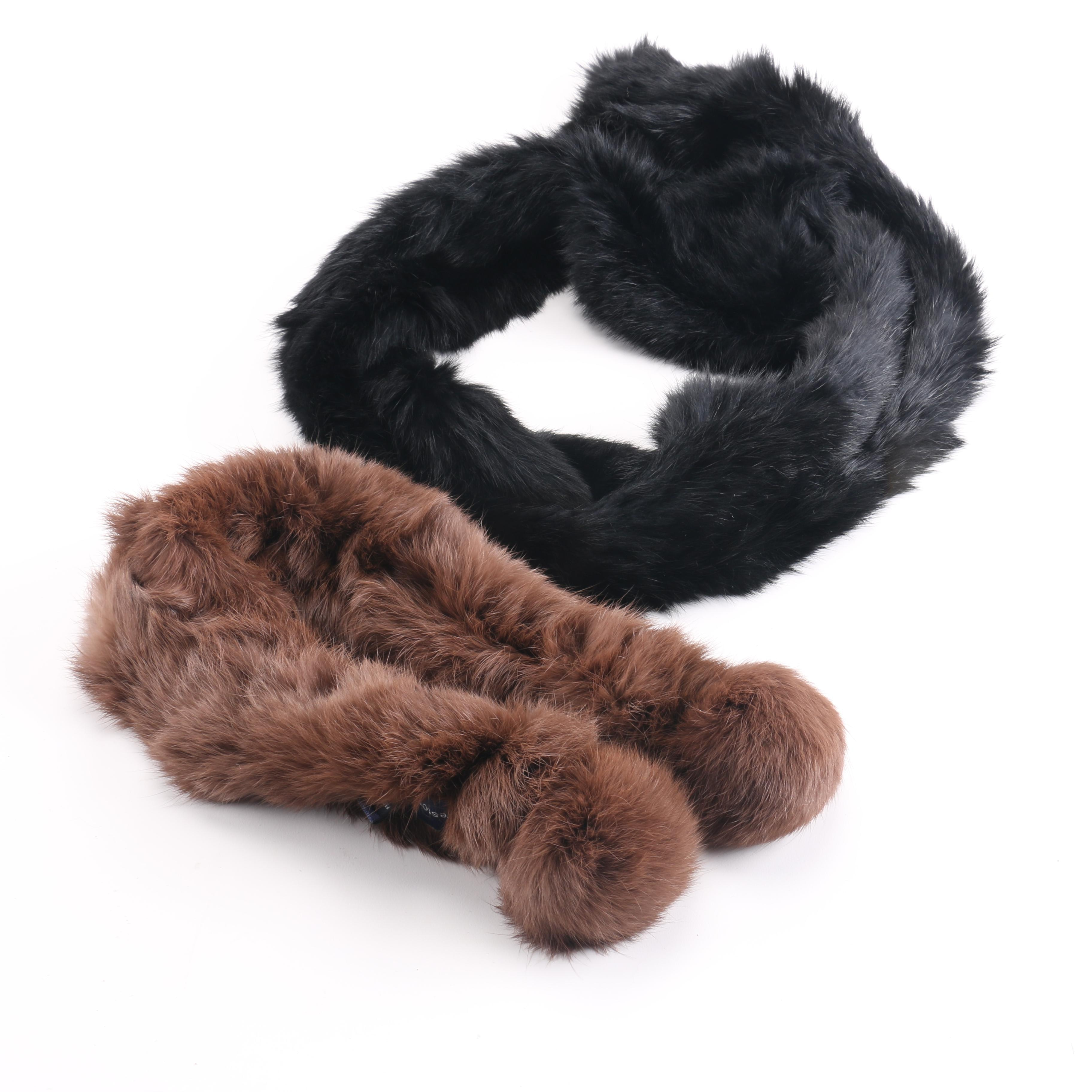 Preston & York Rabbit Fur Scarves