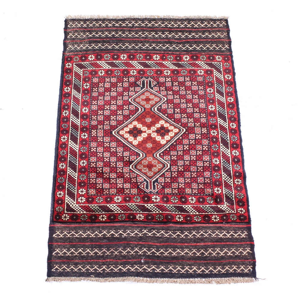 Hand Knotted Afghani Baluch Prayer Rug