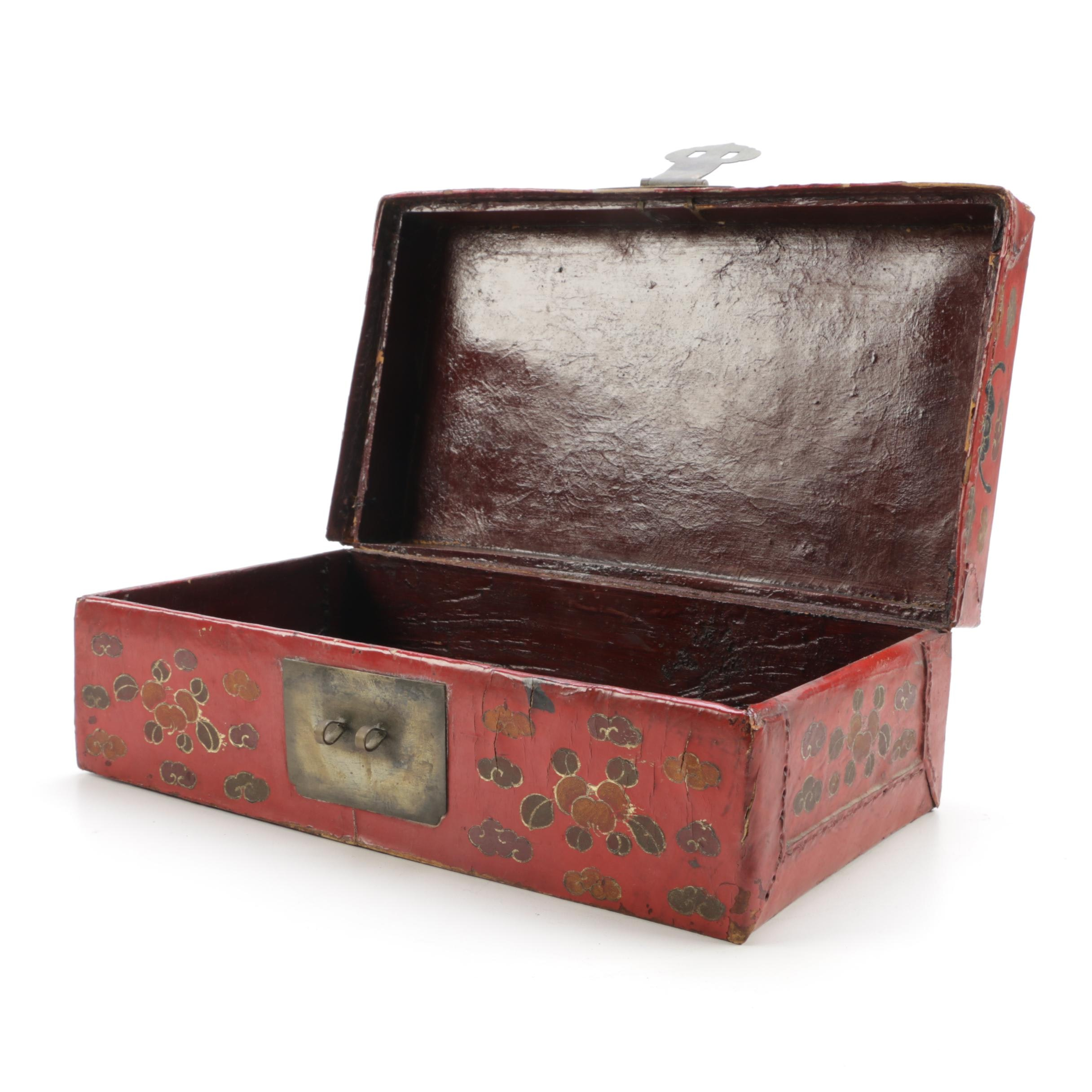 Asian Inspired Leatherbound Box