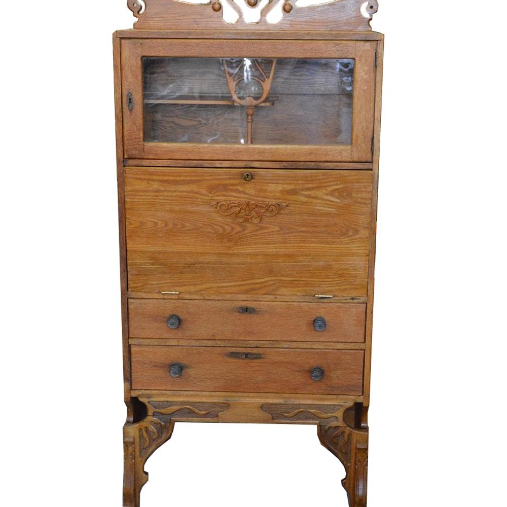 Art Nouveau Style Secretary Desk