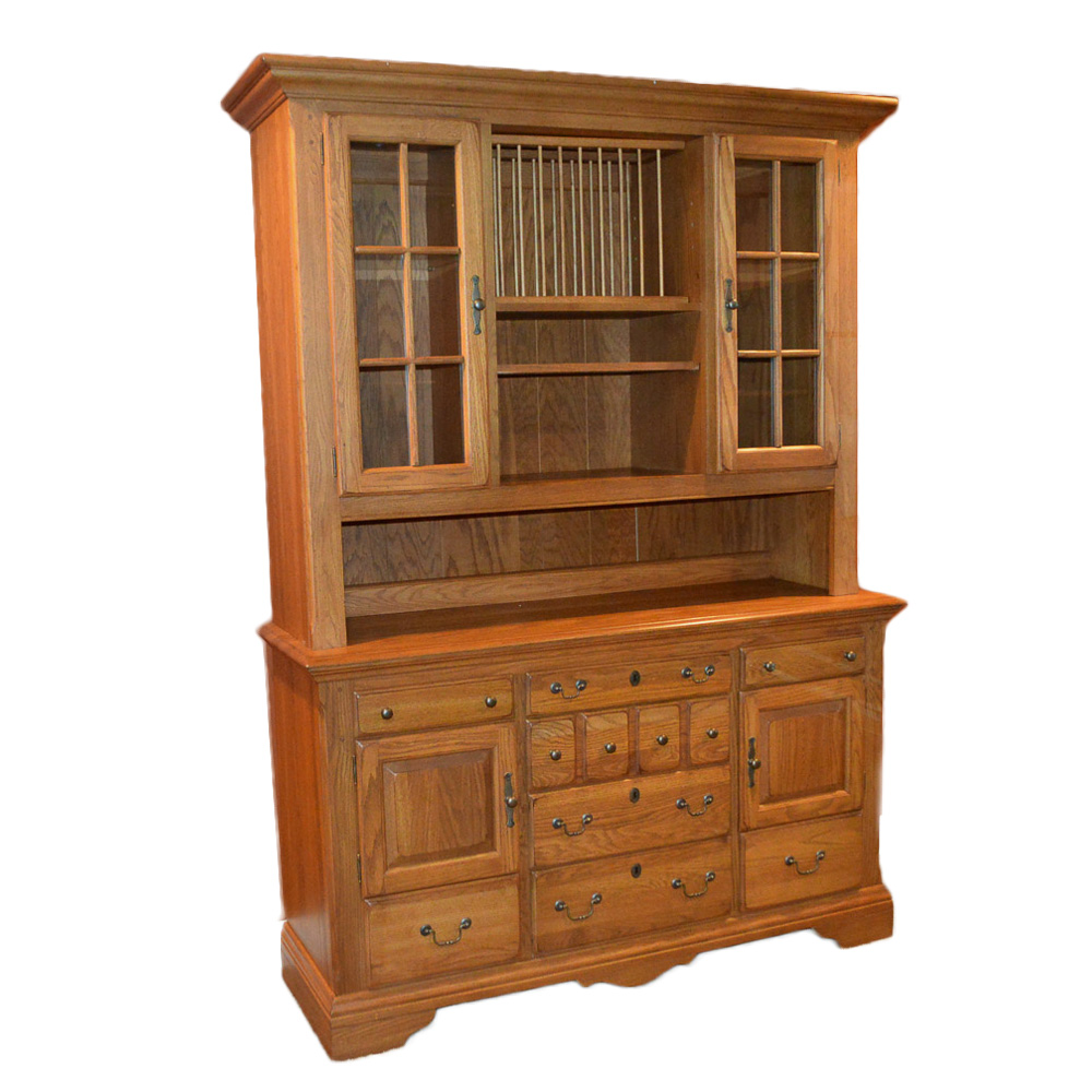 Oak China Cabinet by Virginia House : EBTH