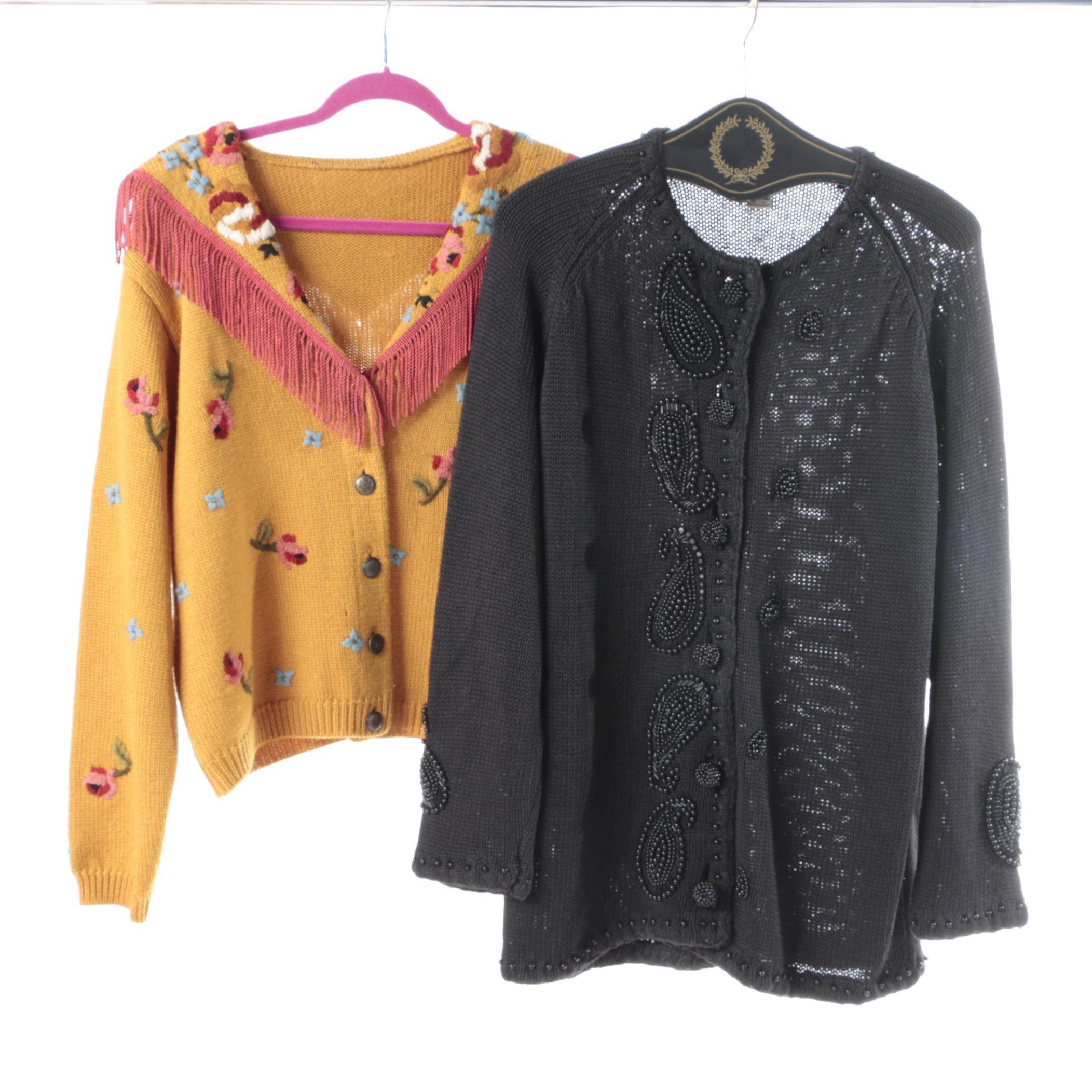 Pair of Vintage Embellished Cardigans