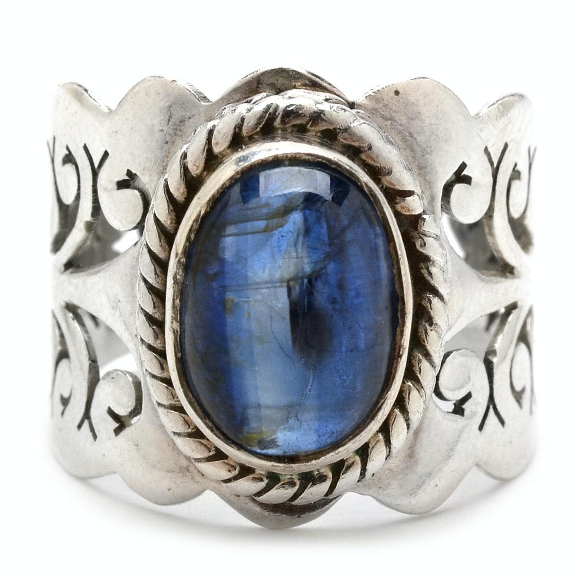 Sterling Silver Kyanite Openwork Ring