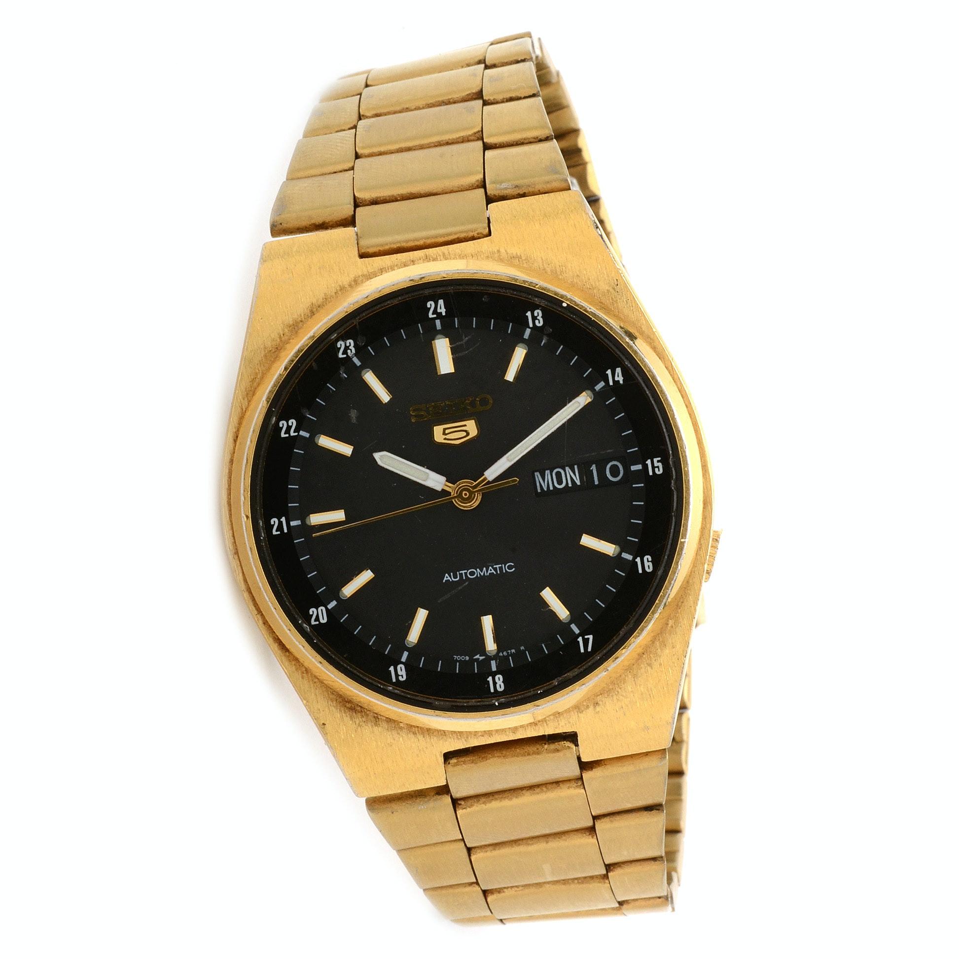 Seiko Automatic Gold-Tone Wristwatch