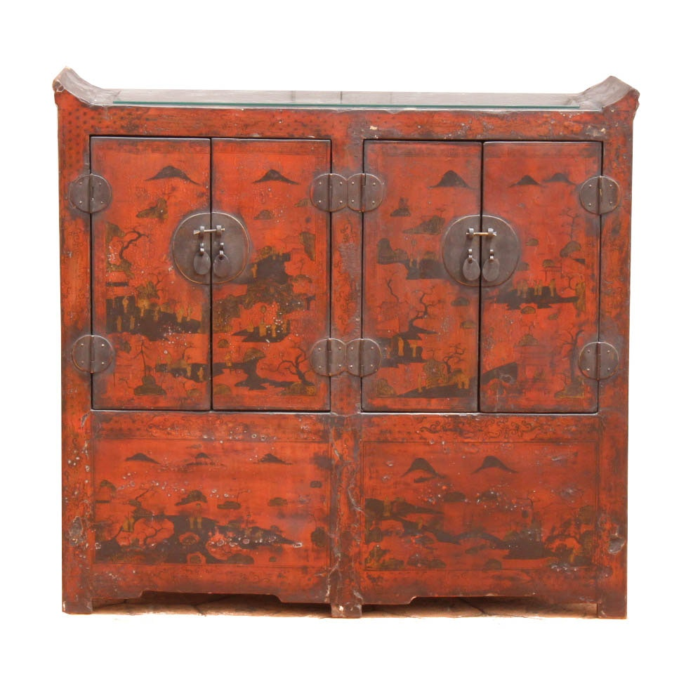 Antique Chinese Alter Cabinet
