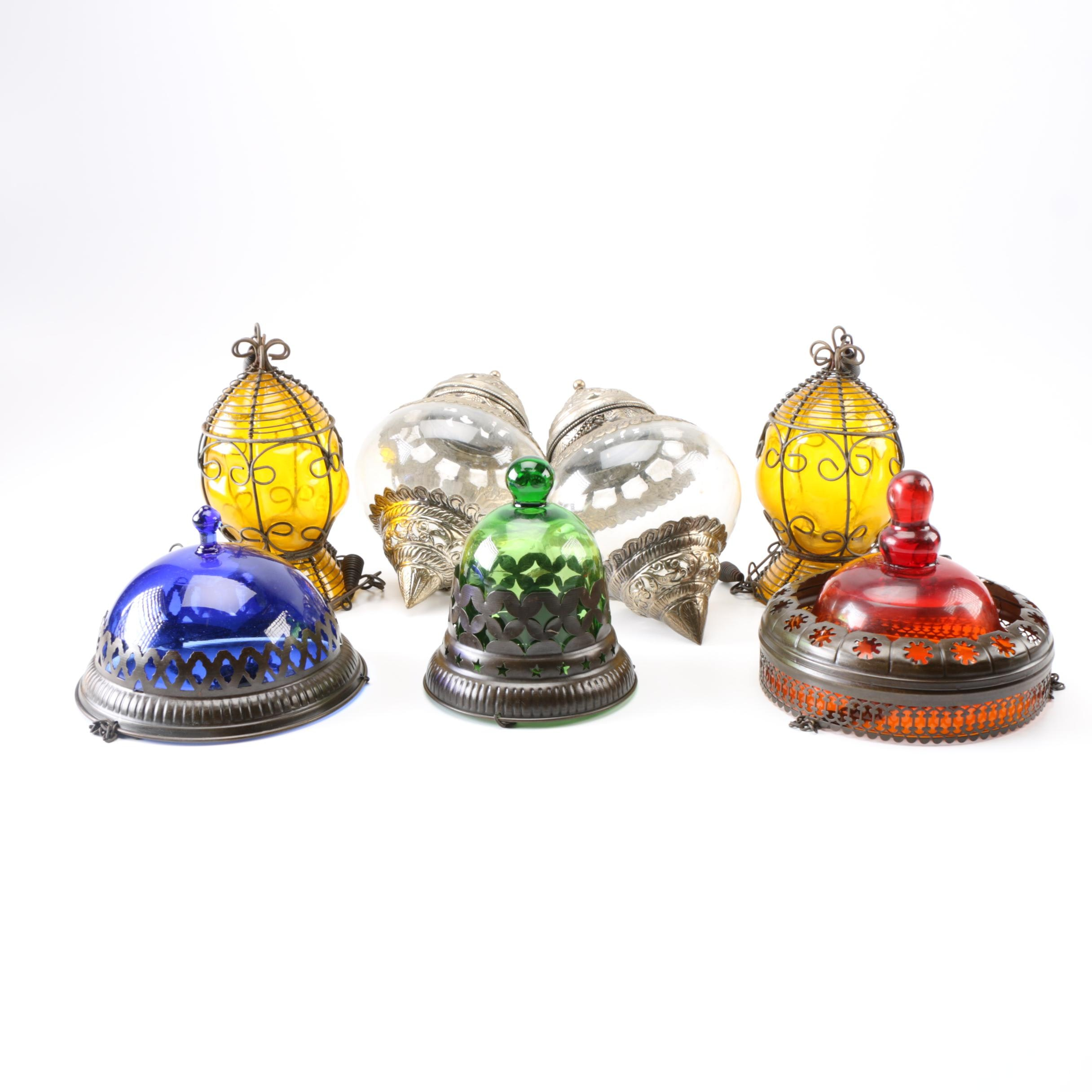 Collection of Colorful Hanging Lights