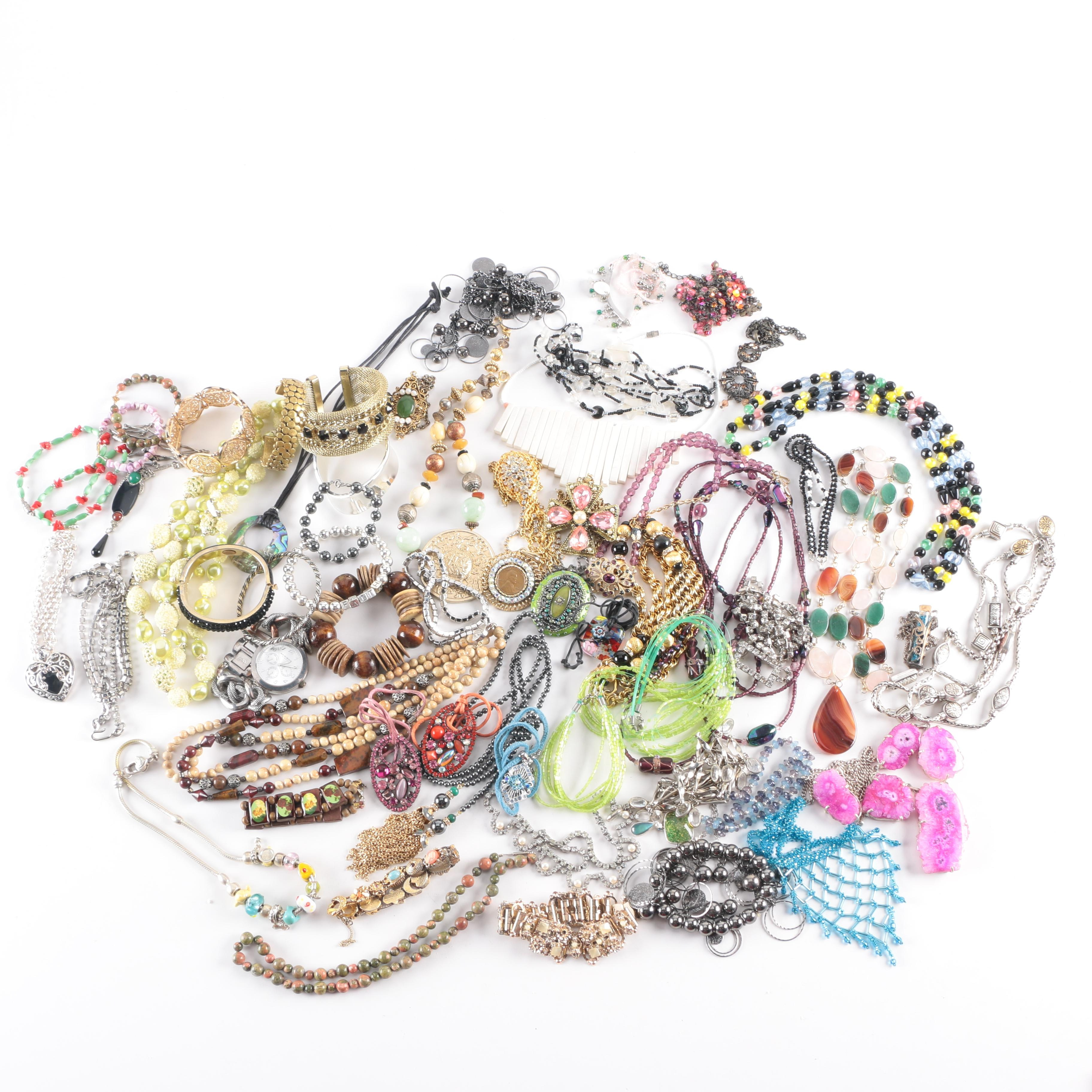 Costume Jewelry Including Richard Kerr, Bellini, Weiss, and Mary Demarco
