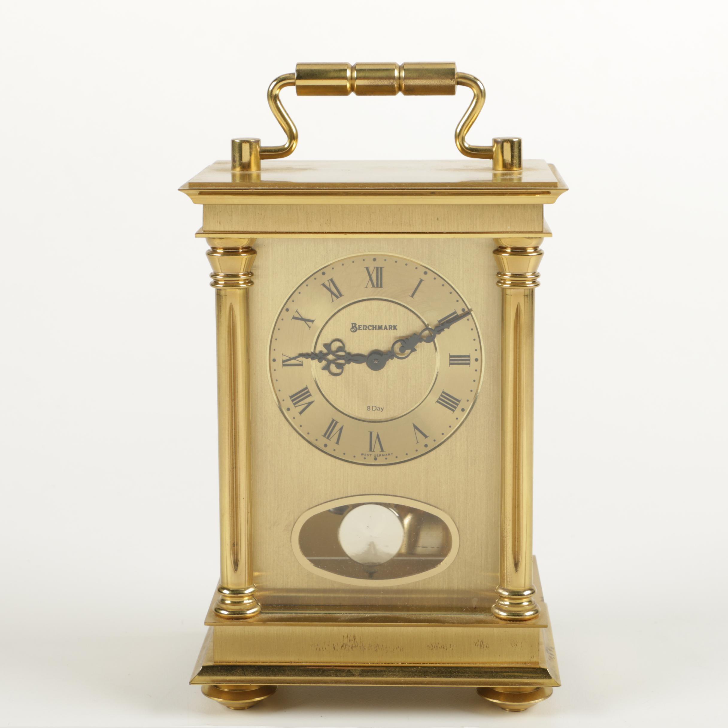 W. & A. Schmid-Schlenker Jr. Brass Carriage Clock