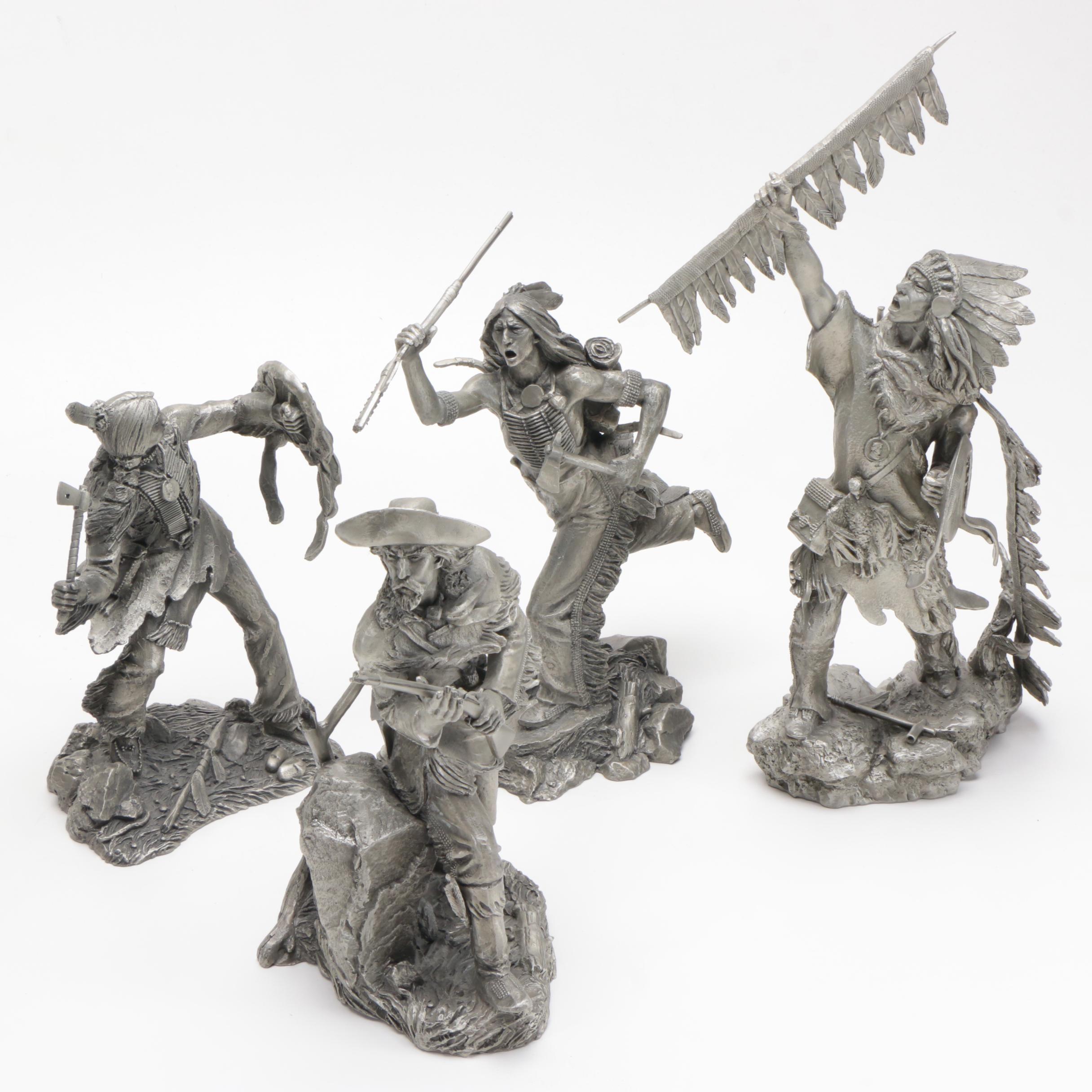 Cast Pewter Limited Edition Sculptures After Jim Ponter