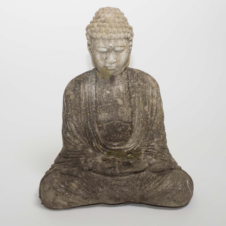 Vintage Cast Stone Buddha