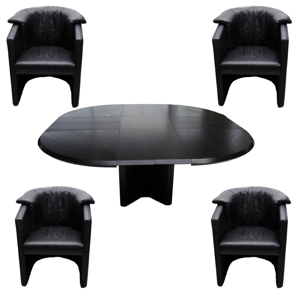 Mid Century Modern Cy Mann Designs X-Ten Dining Table and Chairs