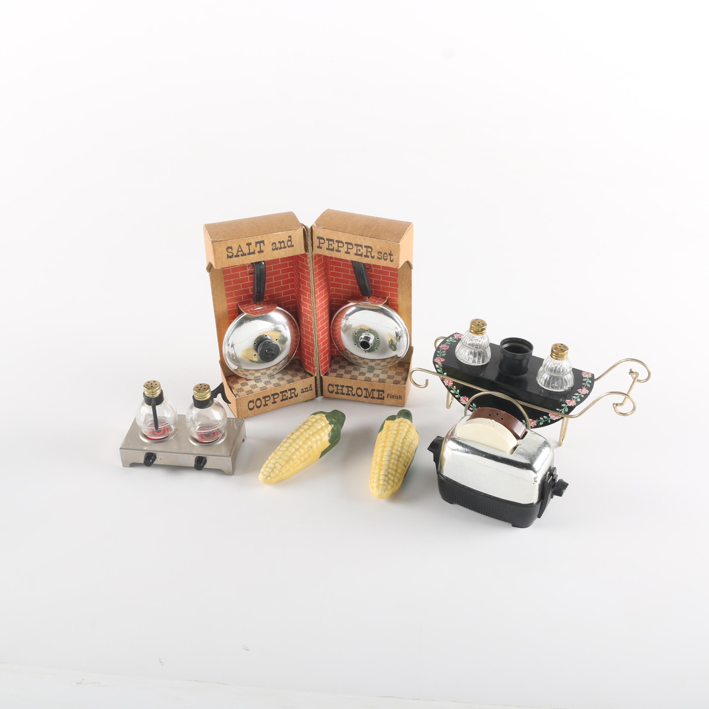 Collection of Vintage Salt and Pepper Shaker Sets
